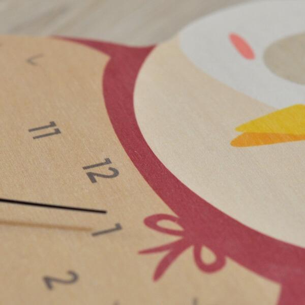 Horloge chouette rose