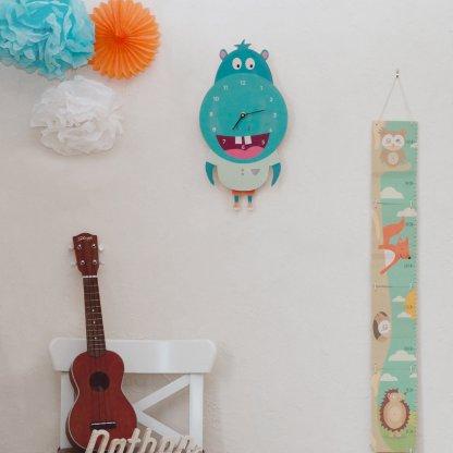 Horloge Hippopotame pour chambre de bébé & enfants