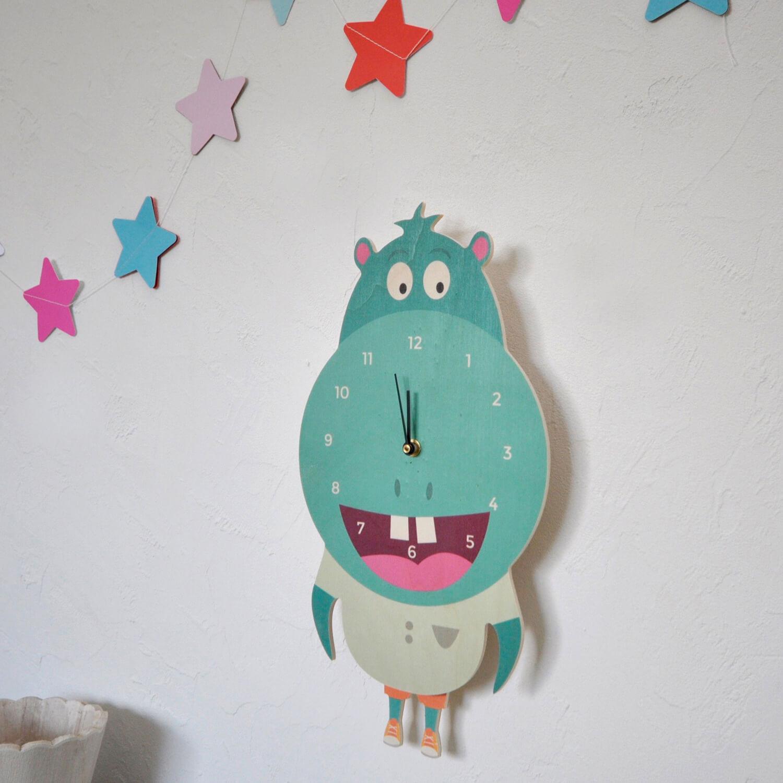 Horloge hippopotame enfants