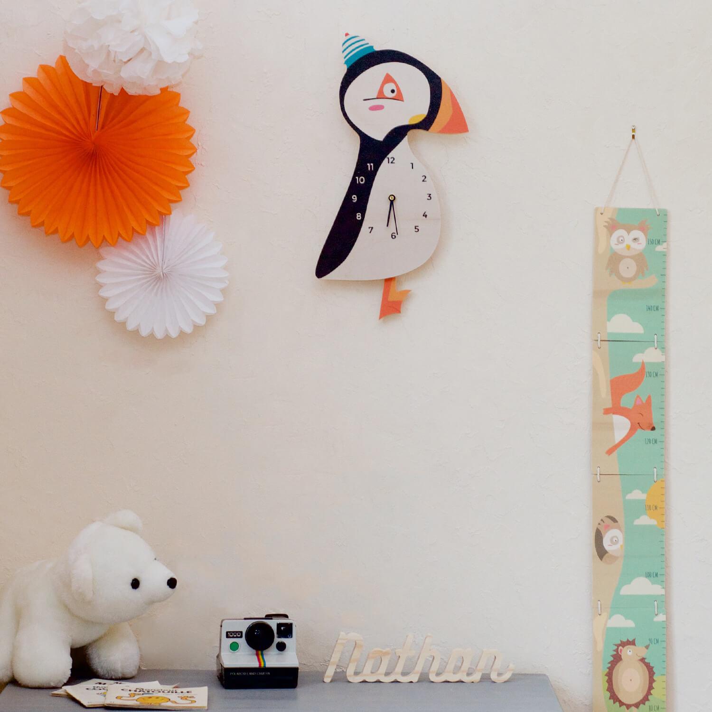 Horloge oiseau Macareux Moine