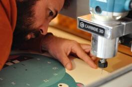 Calage des plaques pour découpe à la CNC