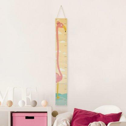 Toise flamant rose pour chambre d'enfant
