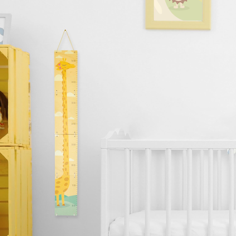 Tuto Toise Chambre Enfant : Toise en bois pour mesurer les enfants girafe