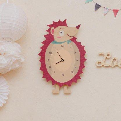 Horloge Hérisson pour chambre d'enfants