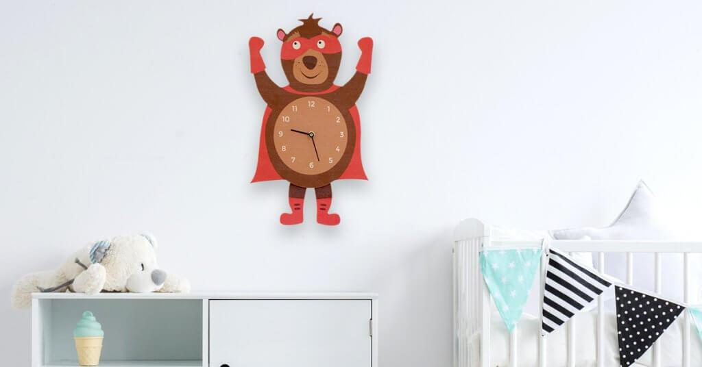 Horloge à balancier Super Héros Ours