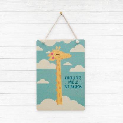 Carte en bois Girafe