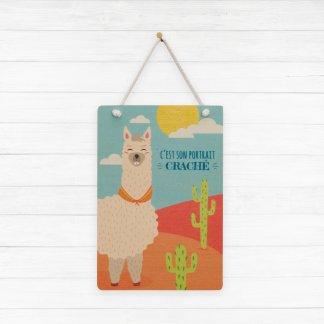 """Carte lama """"C'est son portrait craché"""""""
