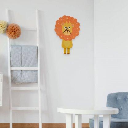 Horloge murale pour enfant lion