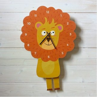 Horloge à balancier Lion