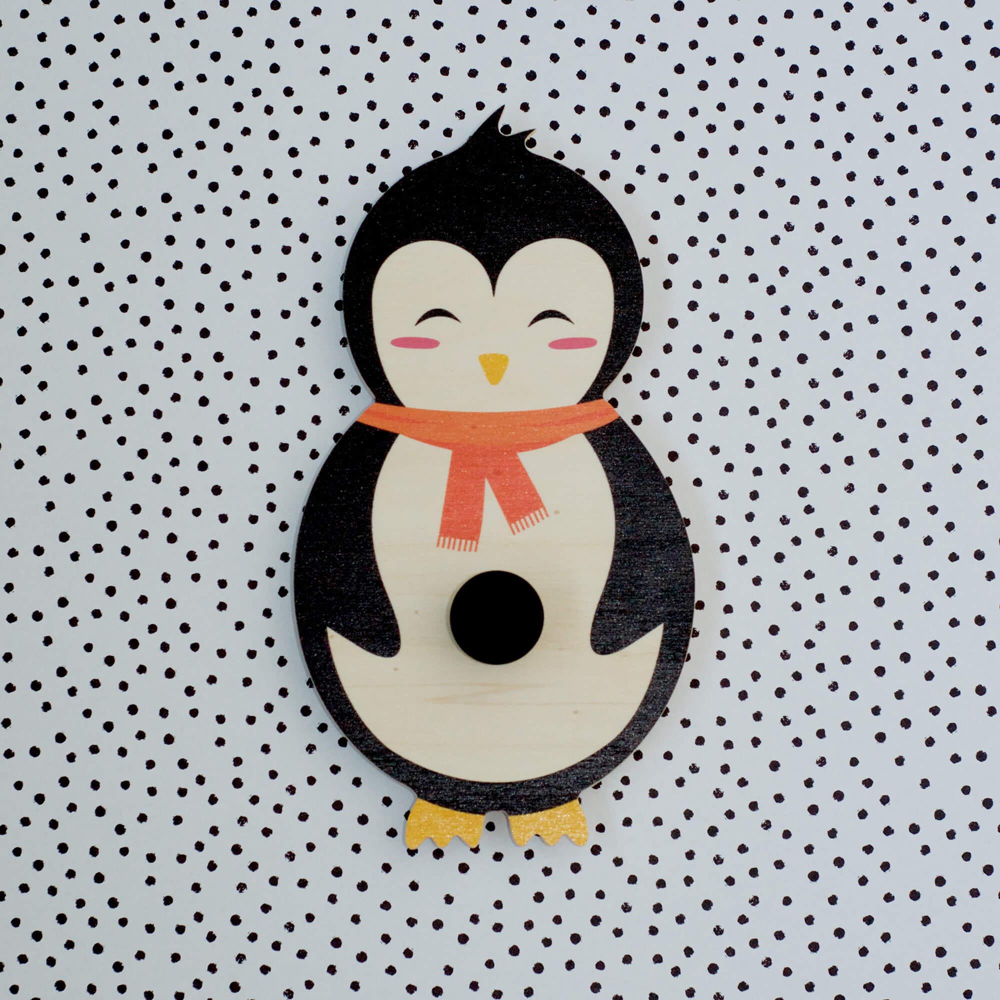 Porte manteau pingouin enfant
