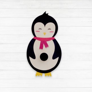 pPorte manteau bois pingouin
