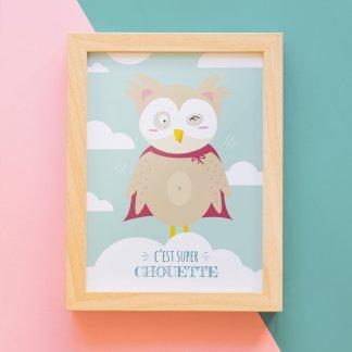 Carte décoration chouette