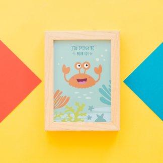 Carte postale déco crabe