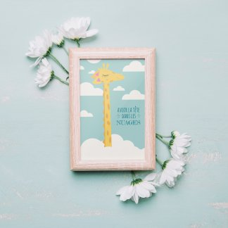 Carte postale déco girafe