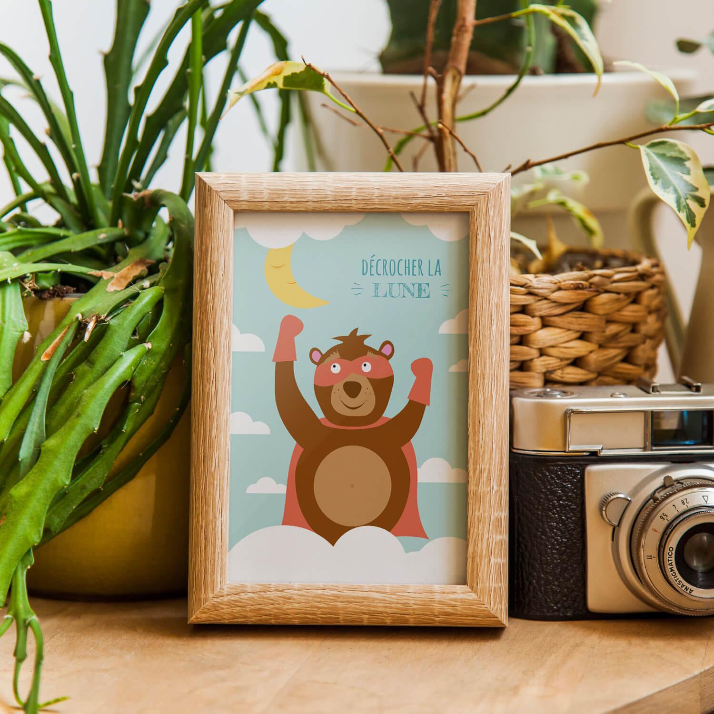 carte postale ours pour une d co originale et l 39 envoi de jolis courriers. Black Bedroom Furniture Sets. Home Design Ideas